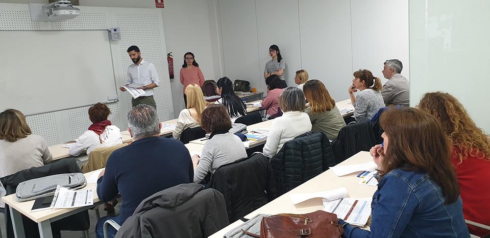 Alumnos en aula de Grupo Euroformac